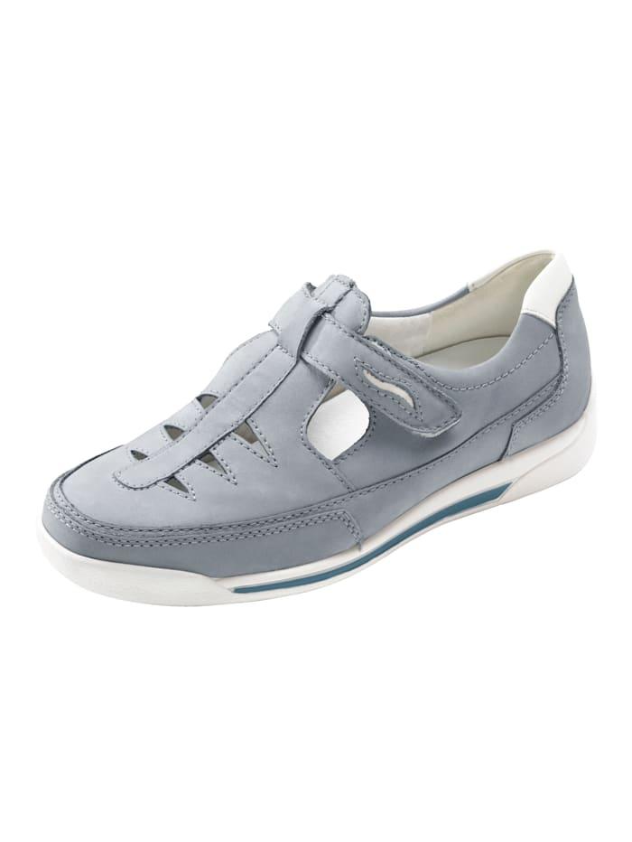Waldläufer Velcro Shoes, Blue/White