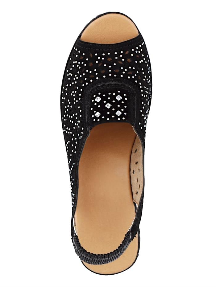 Sandalette mit schöner Glitzerapplikation
