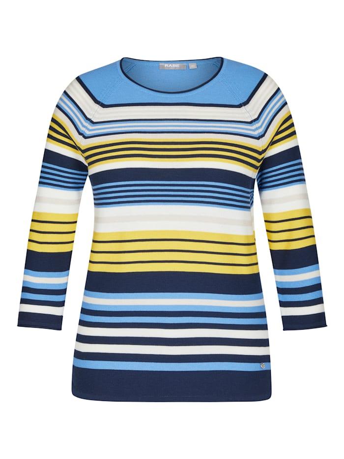 Rabe Pullover mit geringeltem Muster und Ärmeln in 3/4-Länge, ANANAS