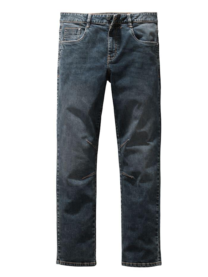 BABISTA Jeans met modieuze washed effecten, Donkerblauw