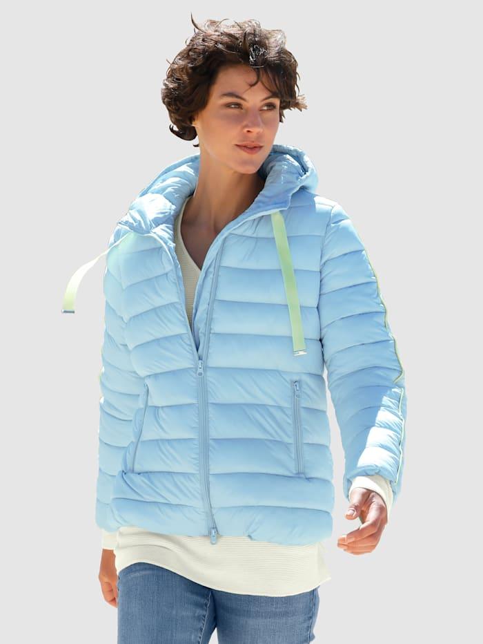 Dress In Gewatteerde jas met contrasterende details, Lichtblauw
