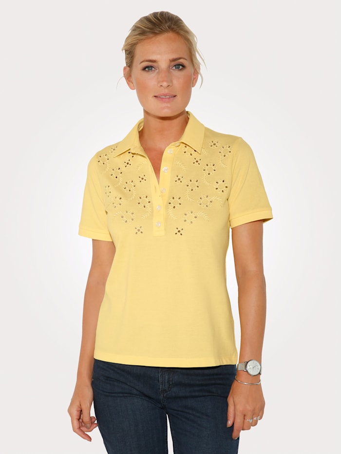 MONA Poloshirt aus reiner Baumwolle, Gelb