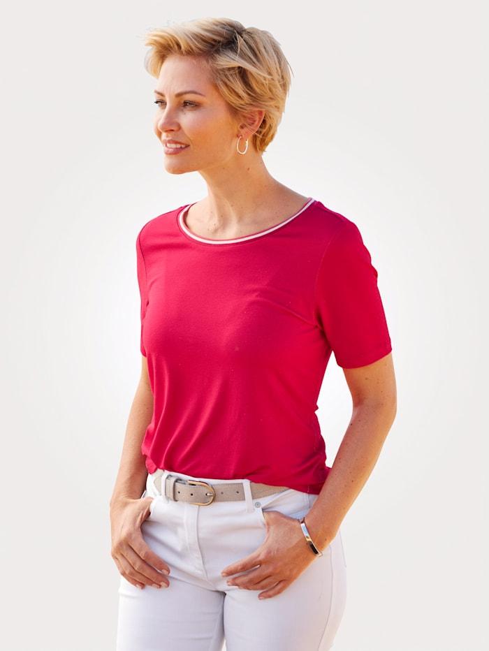 MONA T-shirt en viscose mélangée confortable, Rouge