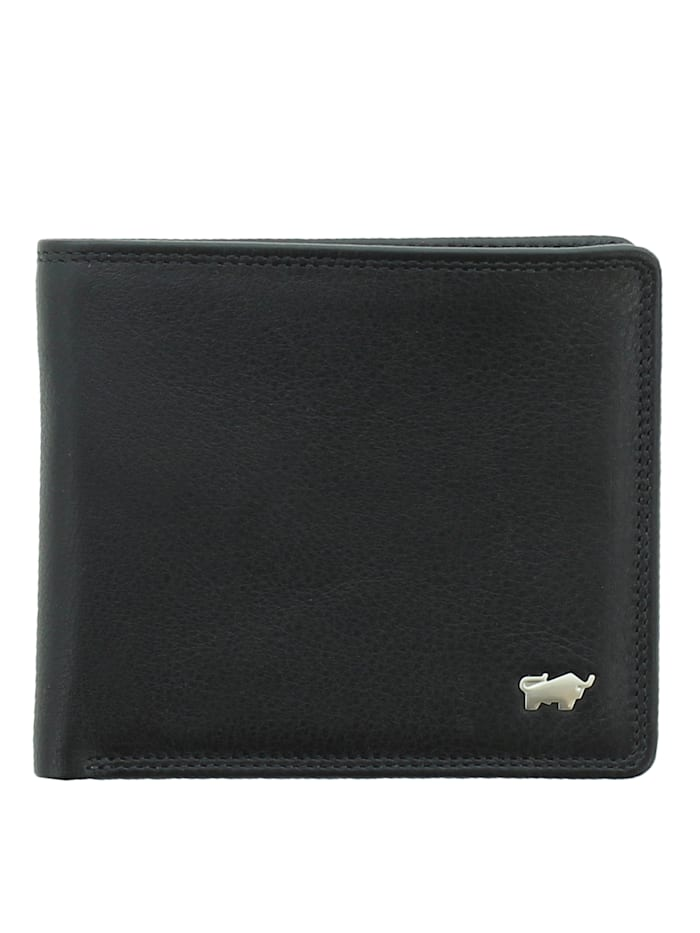 Braun Büffel Geldbörse GOLF SECURE 4+3CS in elegantem Design, schwarz