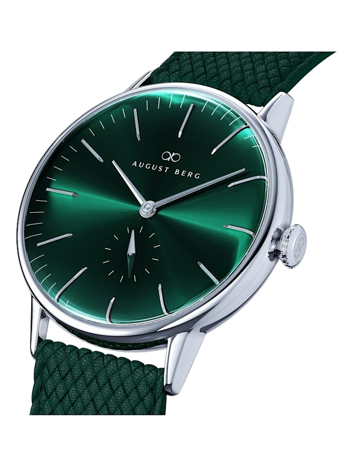 Uhr Serenity Greenhill Eye Dark Green Perlon 40mm