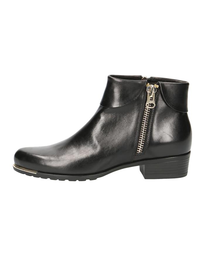 Damen Leder Siefelette Ankle Boot 9-25310-23 022 Black Nappa Schwarz