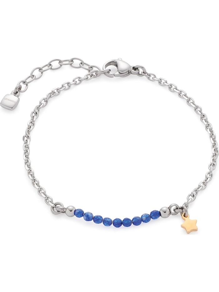 Leonardo Leonardo Damen-Armband Edelstahl Glasstein, silber