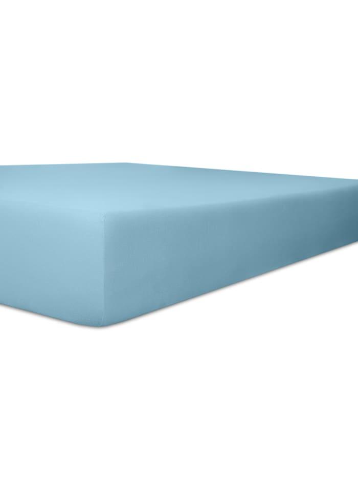 kneer Kneer Spannbetttuch EASY-STRETCH Q251 bis 40 cm, blau