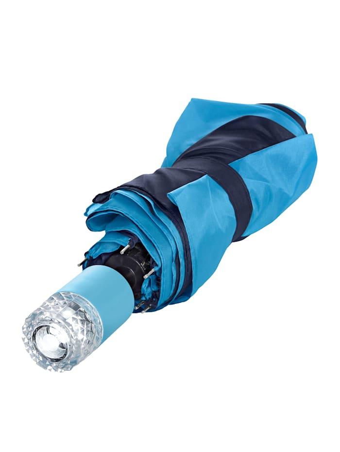 HELU Regenschirm mit LED, blau