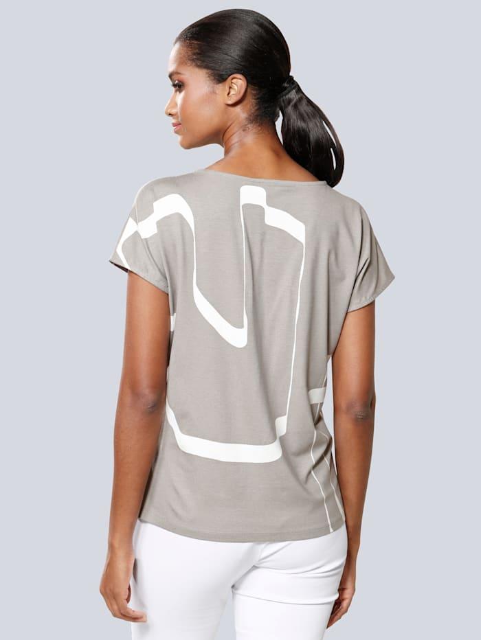 Shirt im grafischen Druck allover