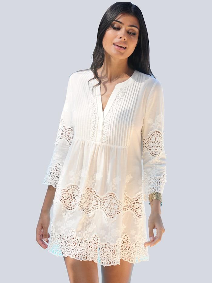 Alba Moda Strandtuniek met aantrekkelijk kant, Wit