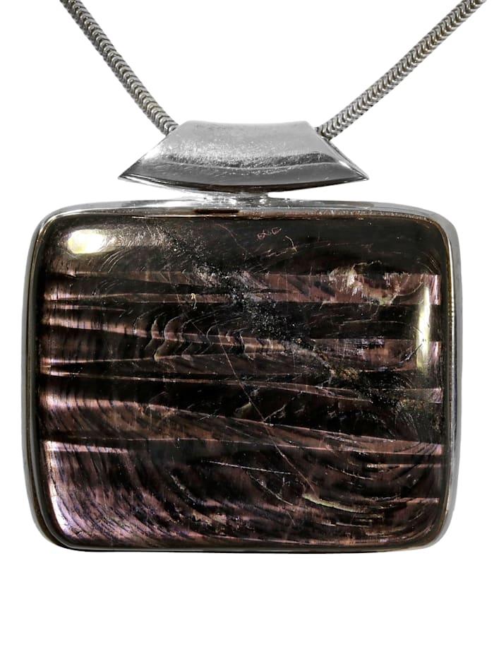 1001 Diamonds Damen Schmuck Edelstein Hypersthen Anhänger 925 Silber bunt, bunt