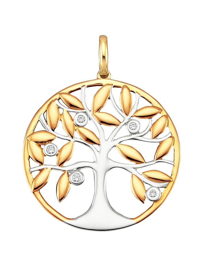 """Amara Diamants Pendentif """"Arbre de vie"""", Coloris or jaune"""