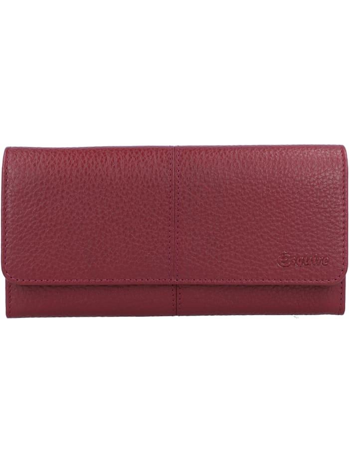 Esquire Verona Geldbörse RFID Leder 19 cm, rot