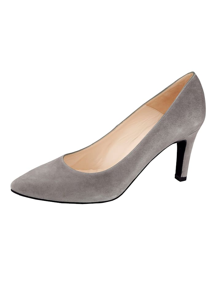 Gennia Court shoes made from super soft suede, Grey