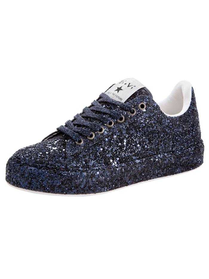 KLiNGEL Sneaker van fonkelend glittermateriaal, Marine