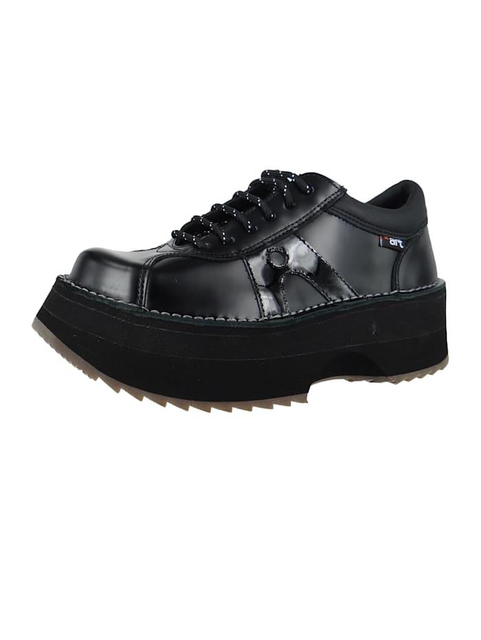 *art Damen Leder Sneaker Art Life Black-Black 1660, Black-Black