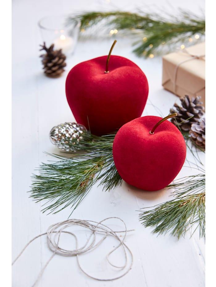 Deko-Apfel-Set, 2-tlg., Samt