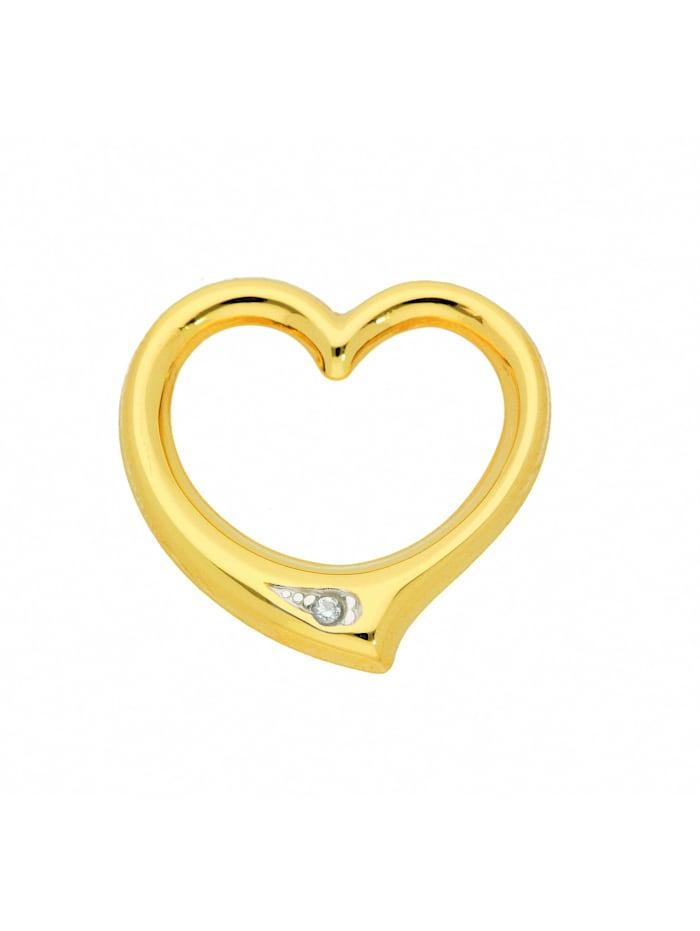 1001 Diamonds Damen Goldschmuck 585 Gold Anhänger Swingheart mit Diamant, gold
