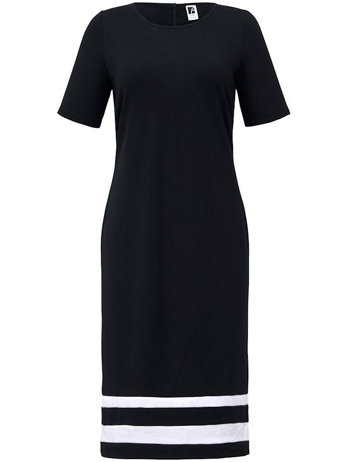 Anna Aura Jersey-Kleid mit 1/2-Arm, schwarz/ec