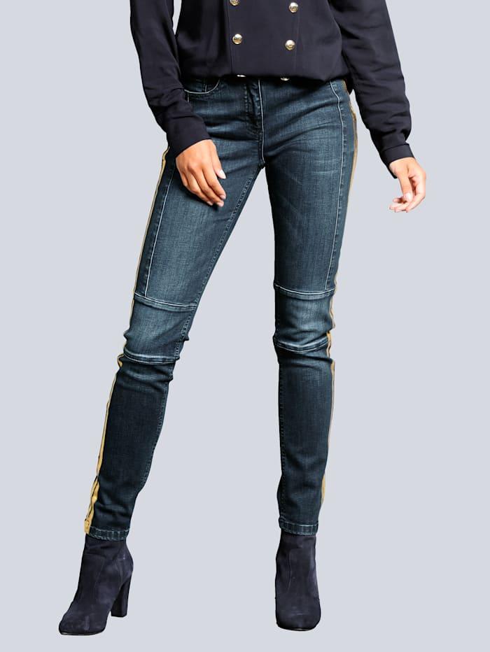 Alba Moda Jeans in modischer Waschung, Dark blue