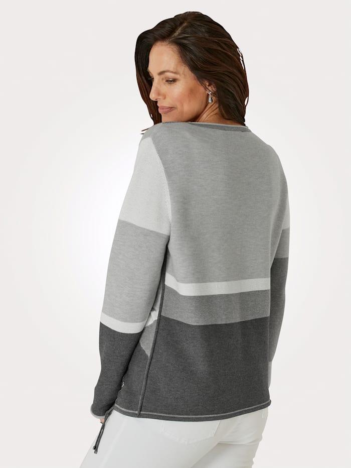 Pullover mit Intarsienstrick