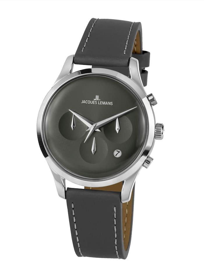 Jacques Lemans Herren-Uhr Chronograph Serie: Retro Classic, Kollektion: Retro Classic: 1- 2067A, Grau