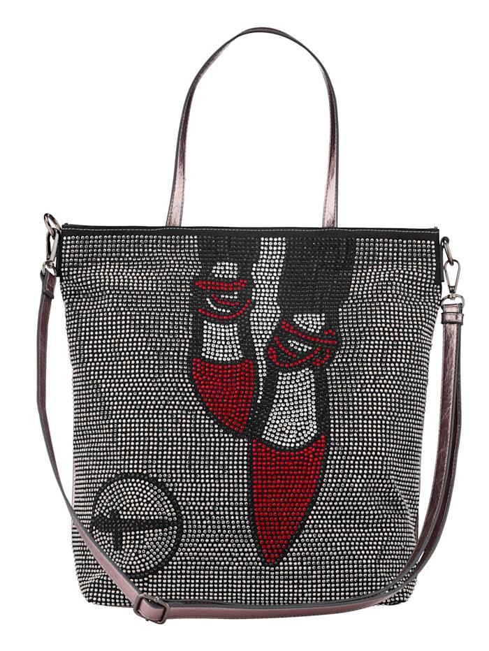 Tamaris Väska i shoppermodell, antiksilverfärgad/flerfärgad