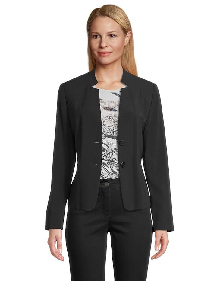 Betty Barclay Businessblazer mit Taschen Kragen, Schwarz