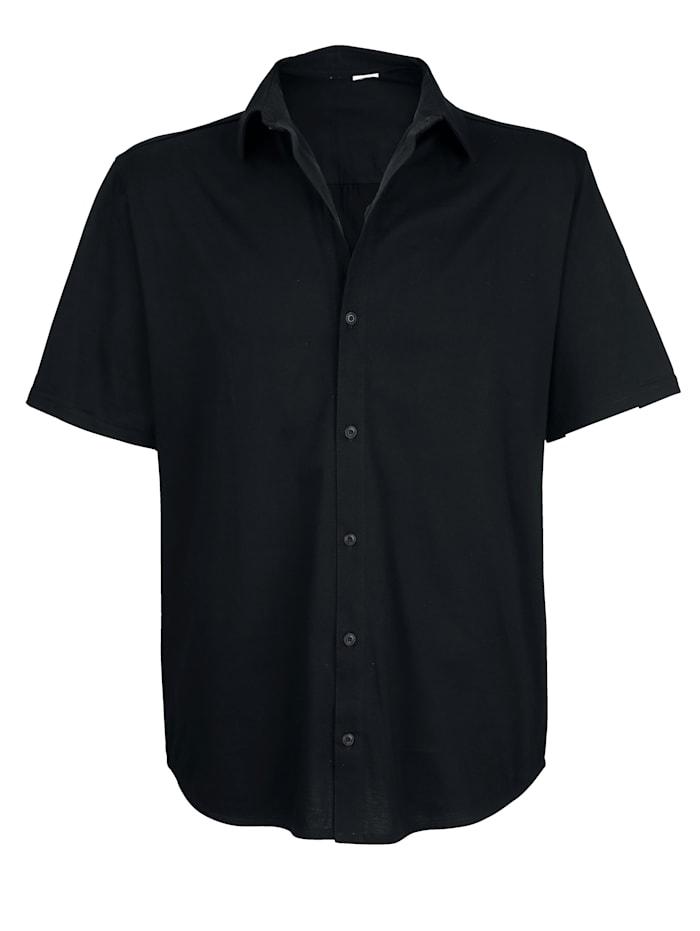 Roger Kent Jerseyskjorta med genomgående knappslå, Marinblå