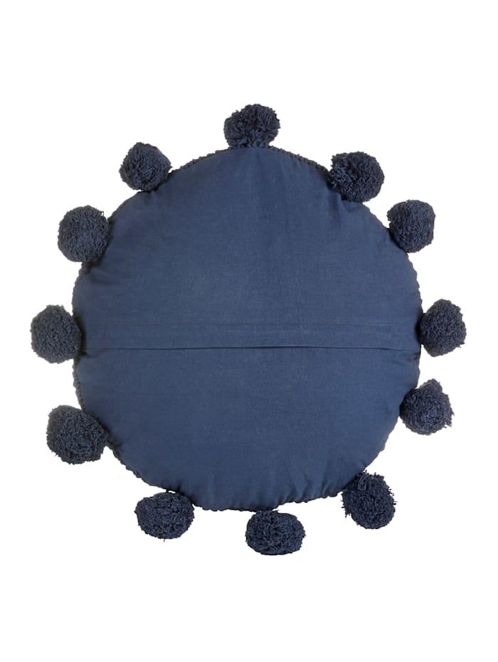 Rundes Kissen, dunkelblau