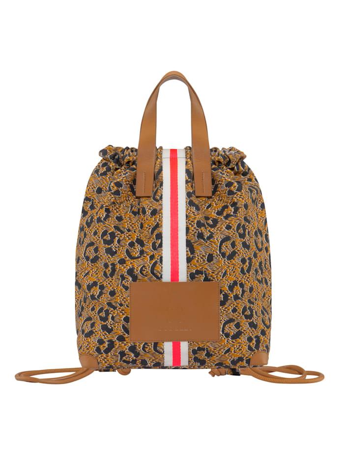 Codello Canvas-Rucksack mit coolem Leo-Muster, brown