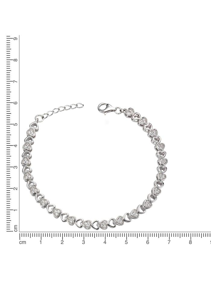 Armschmuck 925/- Sterling Silber Zirkonia 925/- Sterling Silber Zirkonia 19cm Glänzend