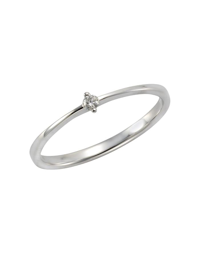 Ring 585/- Gold Brillant weiß Brillant Glänzend 0.04 Karat 585/- Gold