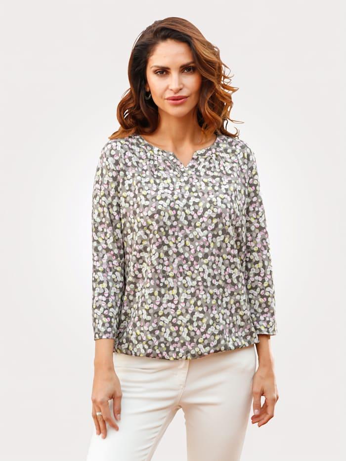 Rabe Shirt mit grafischem Druck, Salbeigrün/Rosé