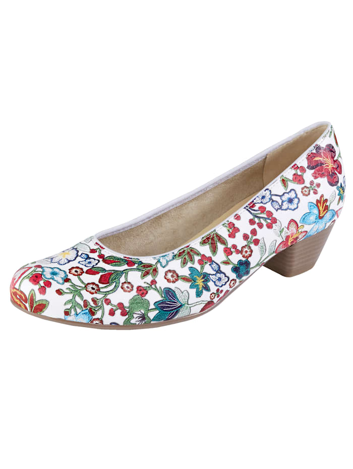 Jenny Pumps, Weiß/Multicolor