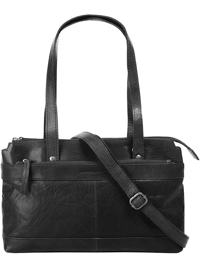 Spikes & Sparrow Handtasche, schwarz