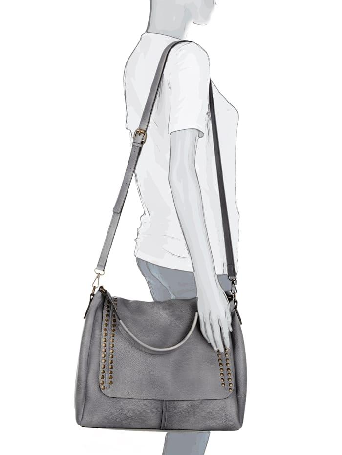 Handtasche aus hochwertigem Softmaterial mit Nieten
