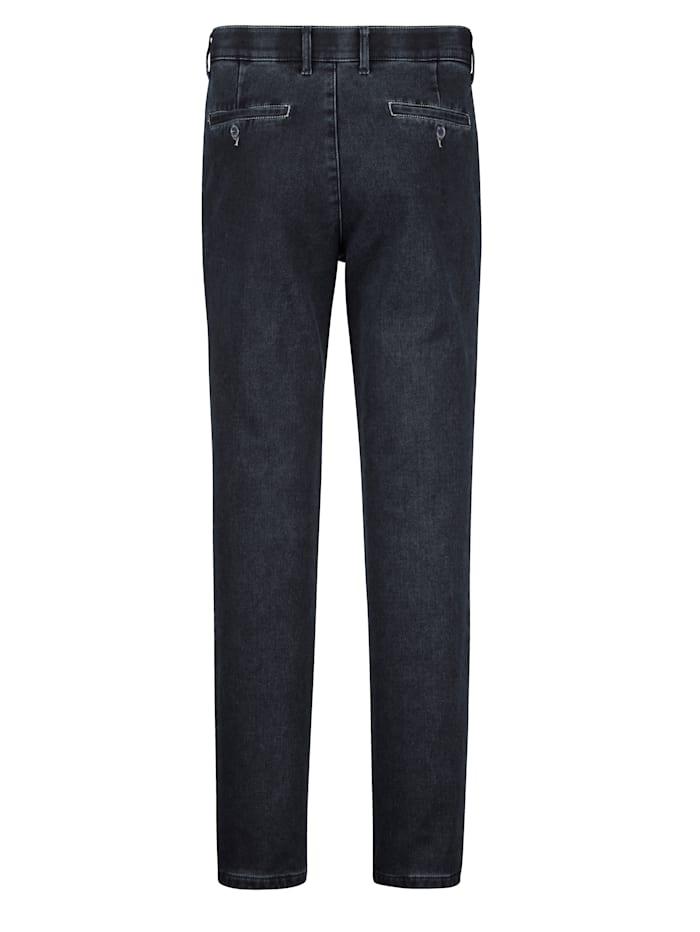 Jeans med värmande insida i flanell