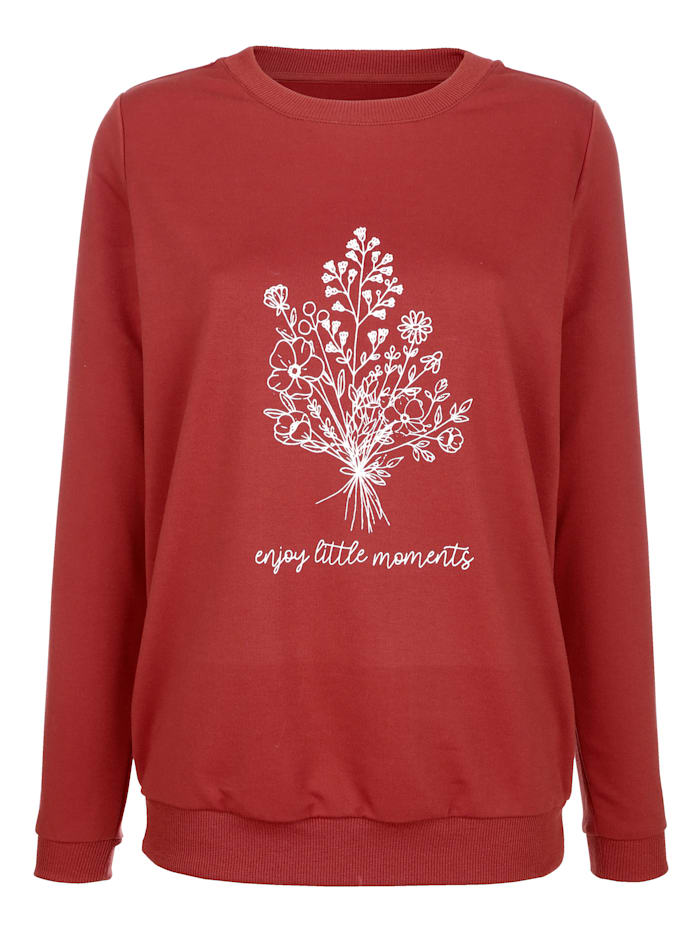 Sweatshirt mit platziertem Blumendruck