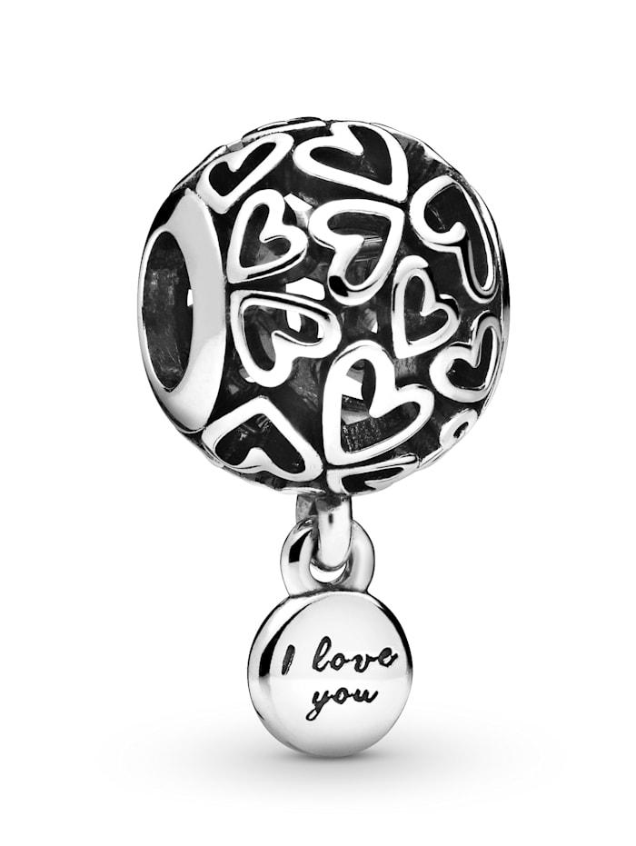 Pandora Charm -Liebesherzen- 798606C00, Silberfarben