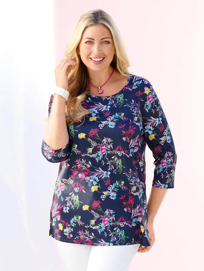 Shirt mit  floralem Druck-Muster rundum