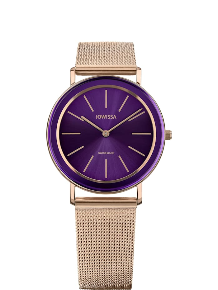 Jowissa Quarzuhr Alto Swiss Ladies Watch, violett