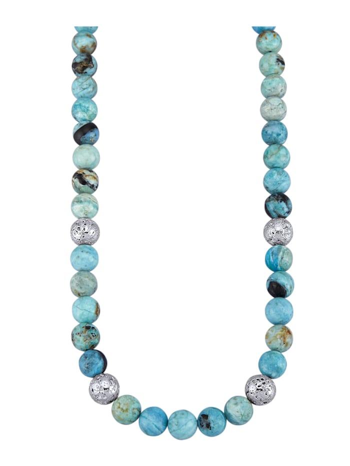 Collier van blauwe opalen (beh.), Blauw