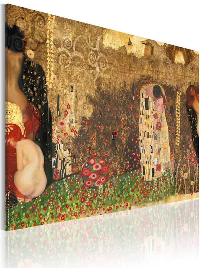 artgeist Wandbild Gustav Klimt - Inspiration, mehrfarbig