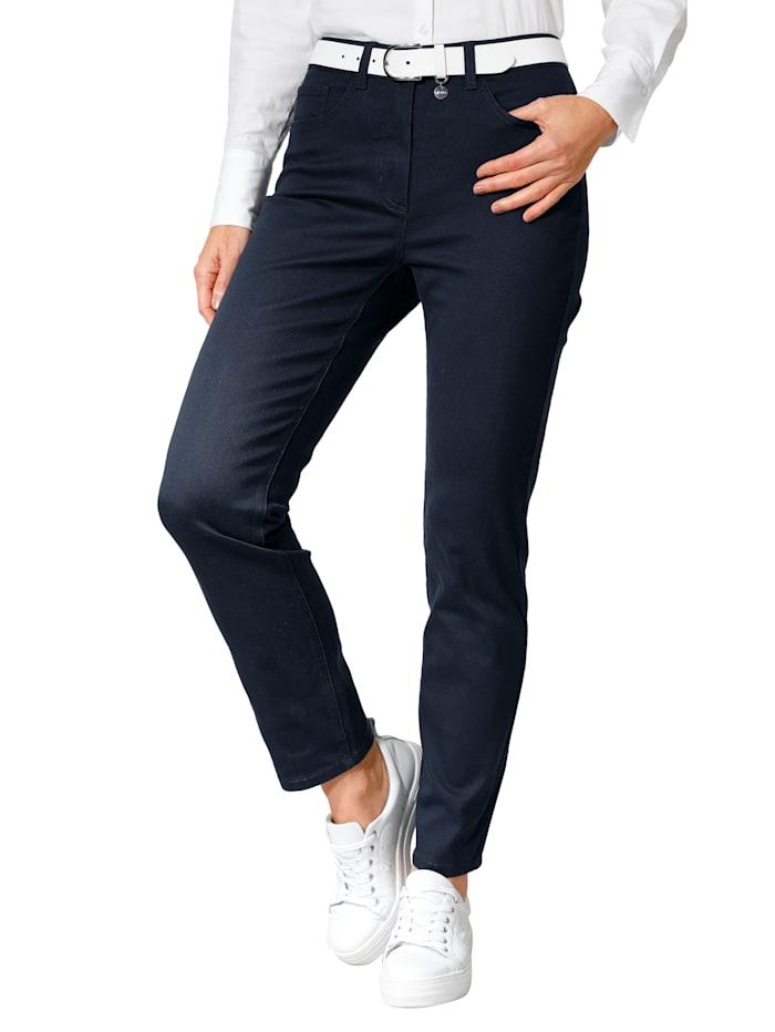 Pantalon avec ceinture partiellement extensible en grandes tailles