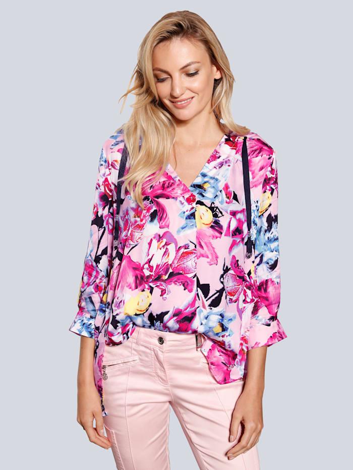 SPORTALM Bluse im farbenfrohem Druck, Pink