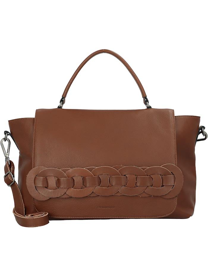 FredsBruder Chica Handtasche Leder 36 cm, toffee