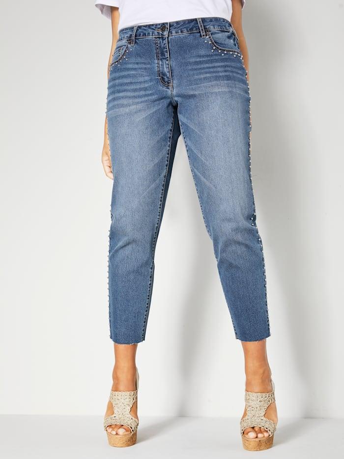 Angel of Style Jeans mit Nieten, Blue stone