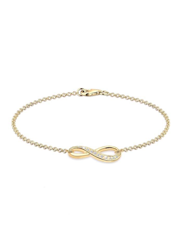 Elli Armband Infinity Symbol Endlos Zirkonia 925 Silber, Gold